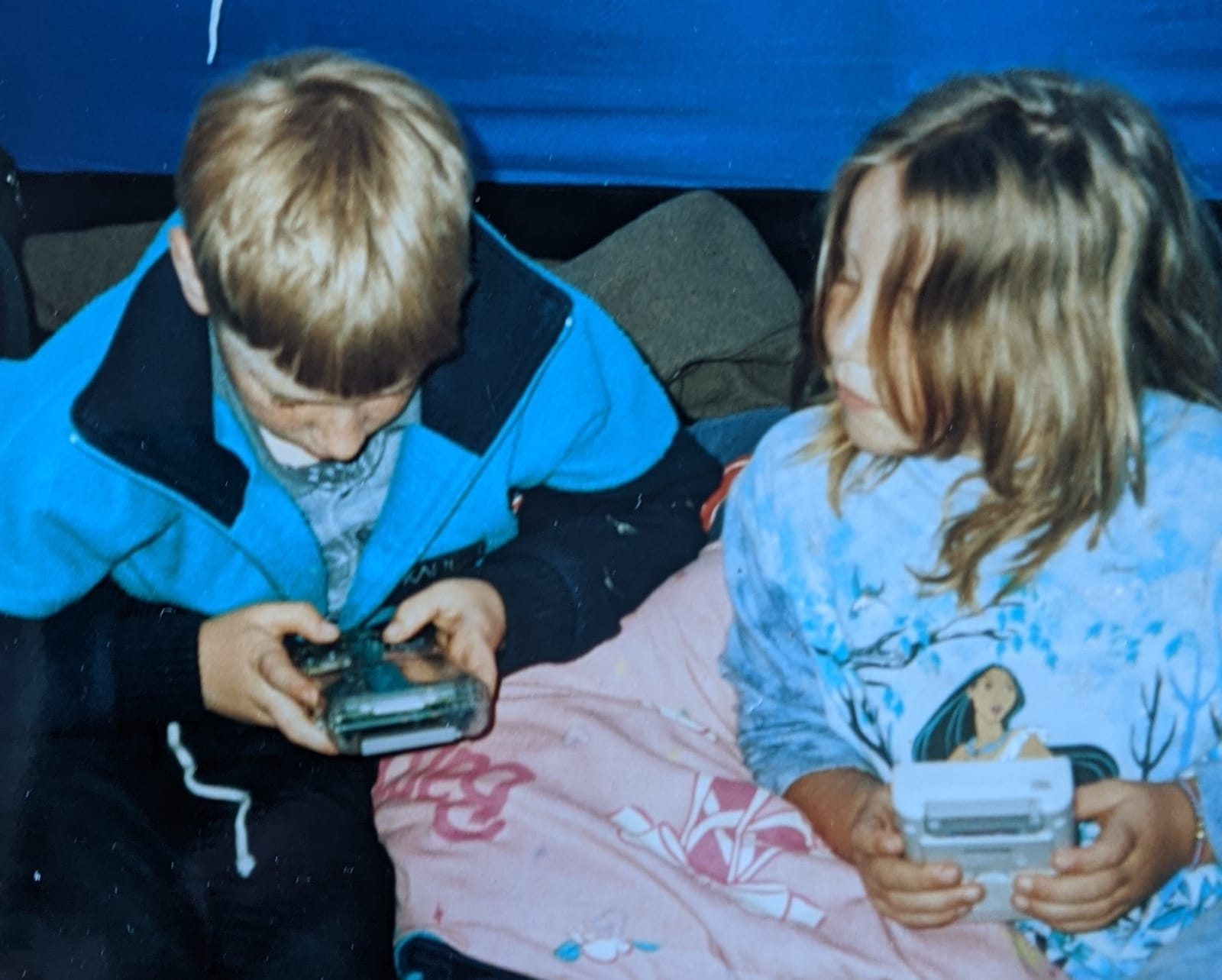 Me playing my GameBoy