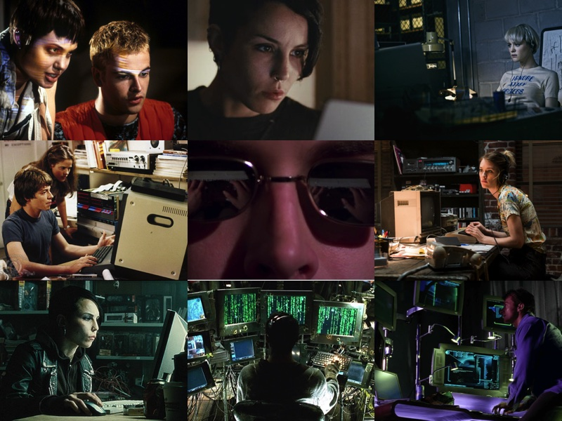 Hacking movie collage